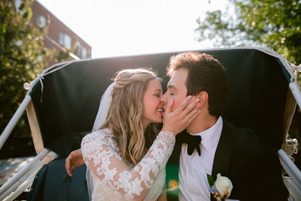 Couple in Carriage photo by Denver Wedding Photographer Matthew Speck
