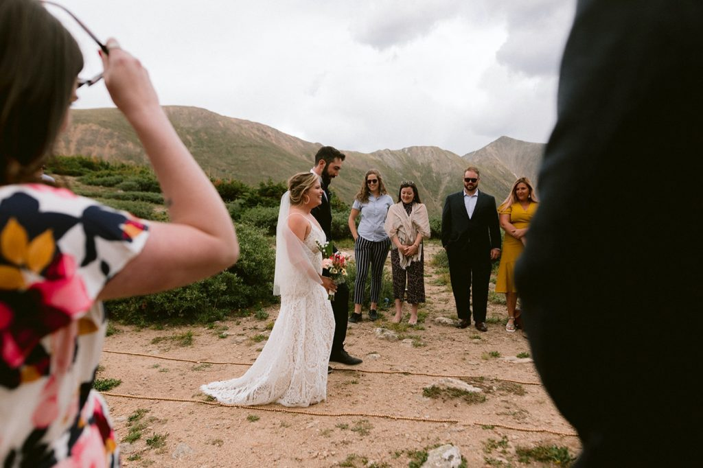 Elopement at Loveland Pass with close friends and family.